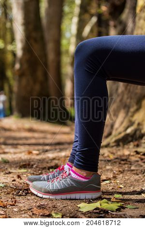 Young Girl, Engaged In Sports, After Running On The Bench, Well-deserved Rest After Training, Nature