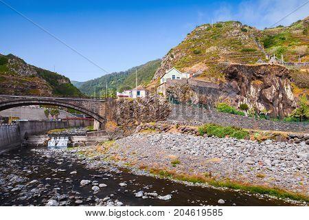 Ribeira Da Janela. Landscape Of Madeira