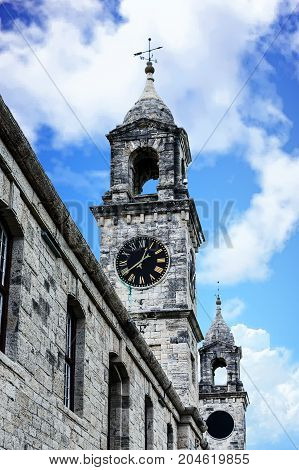 Old Naval Dockyard Clock Towers in Bermuda