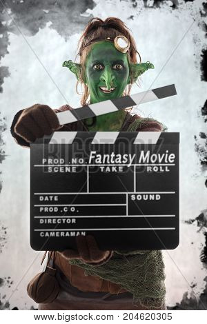Green Goblin Holding A Clapperboard, Fantasy Movie
