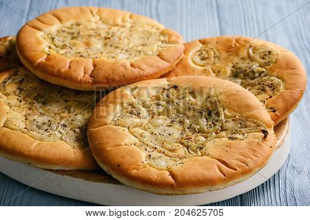 Traditional polish bread with onion known as cebularz.