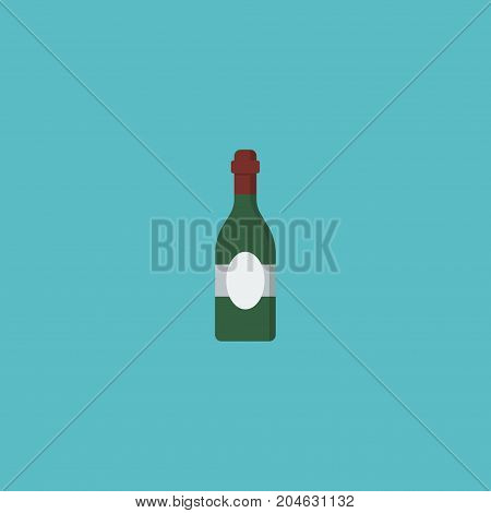 Flat Icon Wine Element. Vector Illustration Of Flat Icon Alcohol Isolated On Clean Background