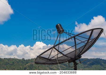 Parabolic Satellite Dish Space Technology Receiver