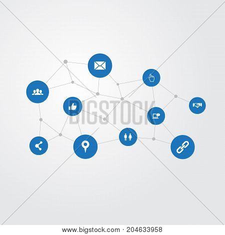 Elements Letter, Agreement, Publish And Other Synonyms Cursor, Love And Handshake.  Vector Illustration Set Of Simple Media Icons.