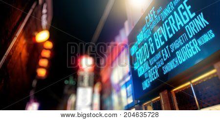 LED Display - Food and beverage signage (Photo + 3D Rendering)