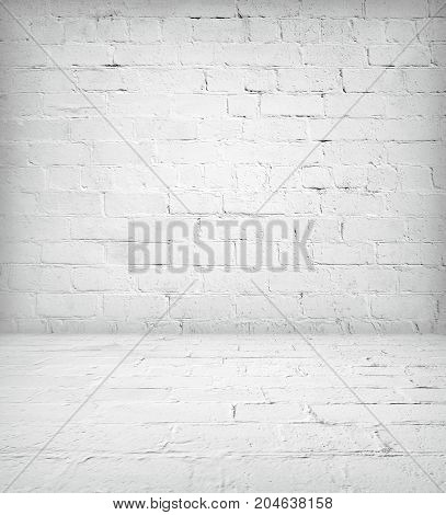 Old brick room interior, empty background with space for your text or design