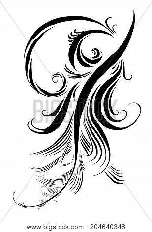 Calligraphy ink drawing retro delicate pattern pen