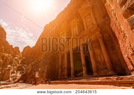 Al Khazneh - the treasury, ancient city of Petra, Jordan