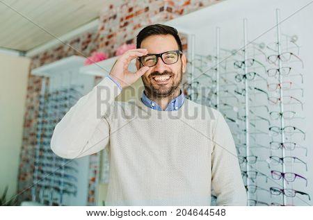 Man In Optics Store