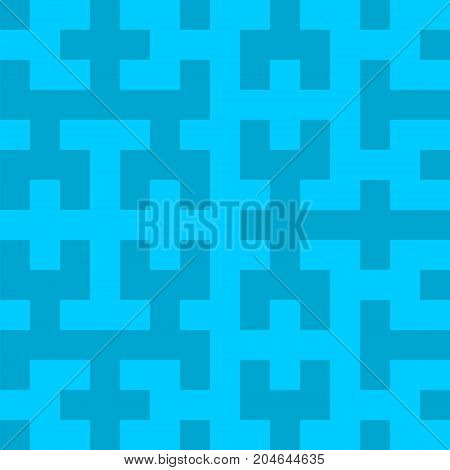 Hilbert curve fractal patterns, linear order of passage through multidimensional space, vector EPS 10