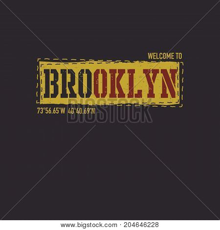 vintage urban typography, t-shirt graphics, vector illustration