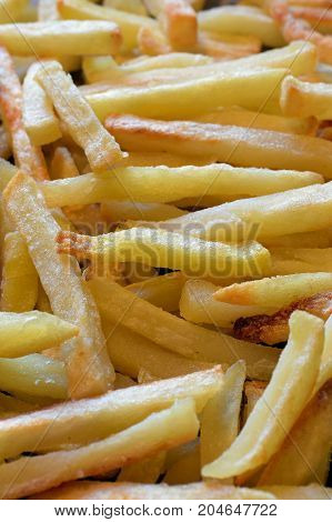 French fries close up vertical background image