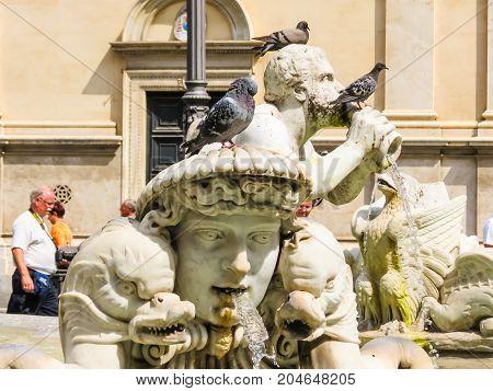 Navona Square Or Piazza Navona, Rome, Italy