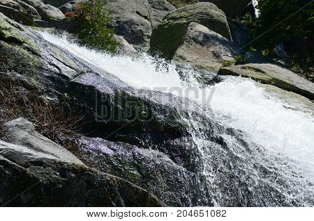 Waterfall In Yosemite National Park, California, Usa