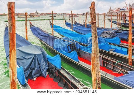Views Of The Most Beautiful Canal Of Venice - Grand Canal Water Streets, Boats, Gondolas. Italy.
