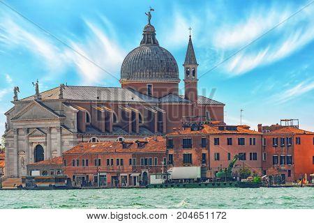 A View Of The Island Of Giudecca, Located Opposite Main Island Venice. San Giorgio Maggiore (chiesa
