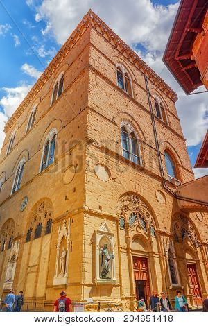 Florence, Italy- May 13, 2017:  Beautiful Landscape  Urban And Historical View Of The Florence - The