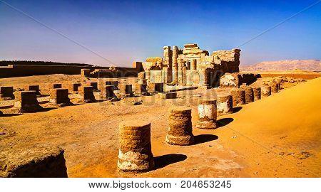 Ruins of Deir el-Haggar temple at Kharga oasis Egypt