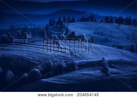 Summer Night In A Carpathian Valley