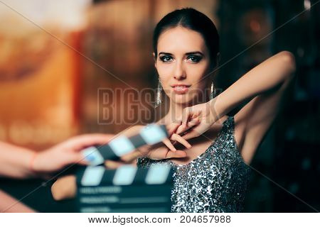 Glamorous Model Starring in Fashion Campaign Video Commercial