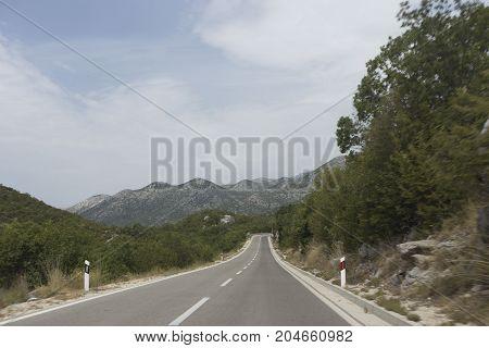 View Of Road To Biokovo Mountain