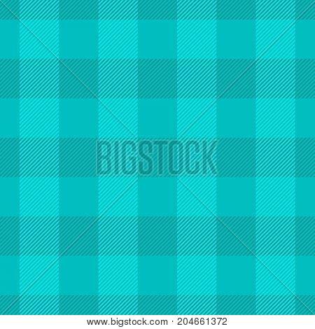 Blue lumberjack plaid pattern. Seamless vector pattern. Simple vintage textile design.