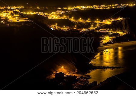 Night Lights In Arrifana Village