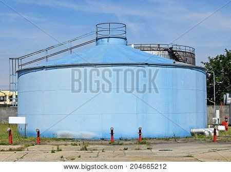 Large gas container of the power station