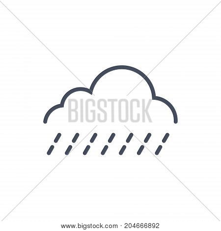Light Rain Weather Icon Climate Forecast Concept Vector Illustration