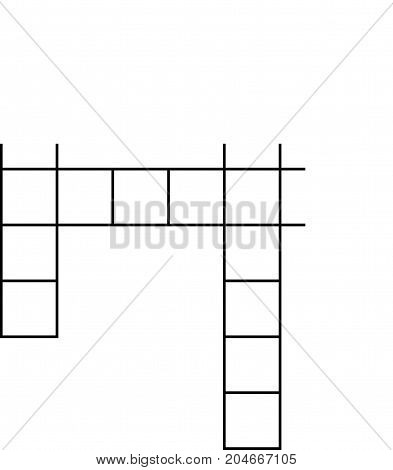 crossword flat icon. crossword on white background. crossword sign.