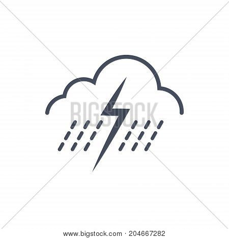 Rain Storm Weather Icon Climate Forecast Concept Vector Illustration
