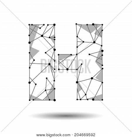 Low Poly Letter H Vector Photo Free Trial