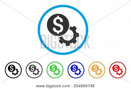 Payment Tools rounded icon. Style is a flat payment tools gray symbol inside light blue circle with black, gray, green, blue, red, orange color versions.