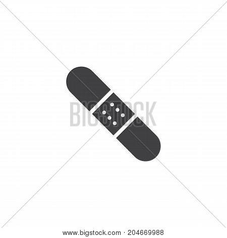 Adhesive bandage, band aid icon vector, filled flat sign, solid pictogram isolated on white. Symbol, logo illustration