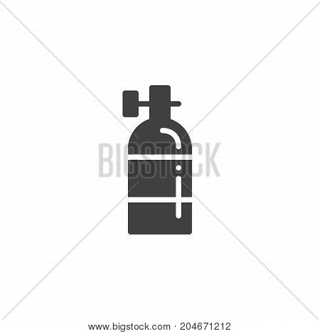 Oxygen tank icon vector, filled flat sign, solid pictogram isolated on white. Symbol, logo illustration