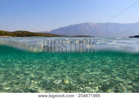Underwater Sea View Background