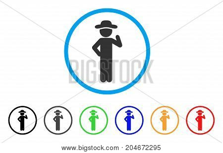 Gentleman Proposal rounded icon. Style is a flat gentleman proposal gray symbol inside light blue circle with black, gray, green, blue, red, orange color versions.