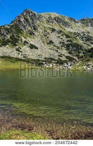 Amazing Panorama with Prevalski lakes and Valyavishki chukar peak, Pirin Mountain, Bulgaria