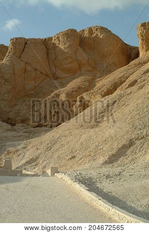 The Tombs in the Valley of the Kings without people, Thebes, Luxor, UNESCO World Heritage Site, Egypt, North Africa, Africa