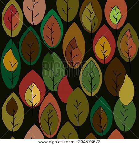 Autumn theme background with leaves of fashionable shades