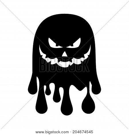 Bat silhouette vector black icon. Isolated on a white background. For decoration of congratulatory products for Halloween.