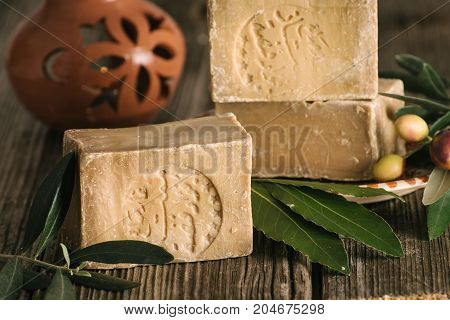 Bar of Aleppo Soaps traditional Syrian product