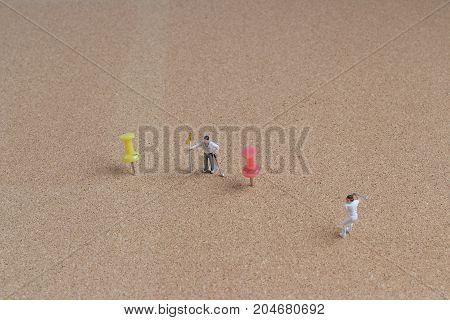 Fun Of The Tiny Golfers Play On Pin