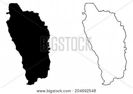 Dominica map vector illustration , scribble sketch Dominica island