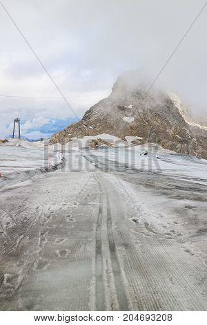 Landscape of Ski in winter at Obertauern resort Salzburg area Austria