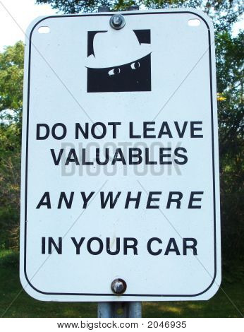 Do Not Leave Valuables