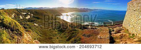 Beautiful spanish coastline panorama in sunny day