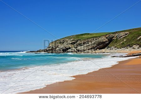Perfect beach with clear sand located in Spain