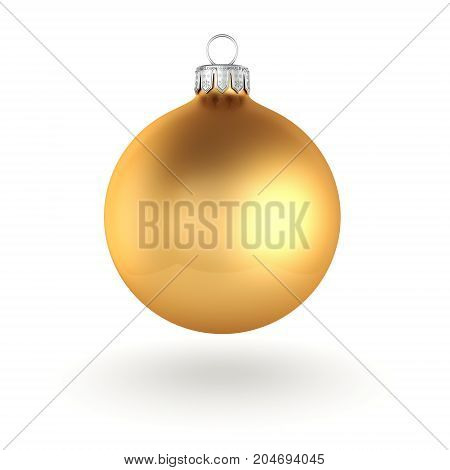 3D Rendering Golden Christmas Ball