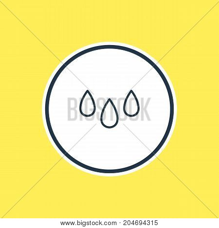 Beautiful Atmosphere Element Also Can Be Used As Drip  Element.  Vector Illustration Of Drop Outline.